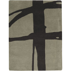 Signature Gray Green and Black Rectangular: 2 ft. x 3 ft. Rug