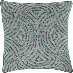 Skinny Dip Blue 18-Inch Pillow Cover