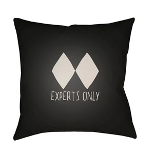 Black Diamond Black and Beige 20 x 20-Inch Throw Pillow