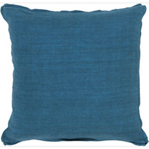Luxury in Linen Teal 18-Inch Pillow with Down Fill