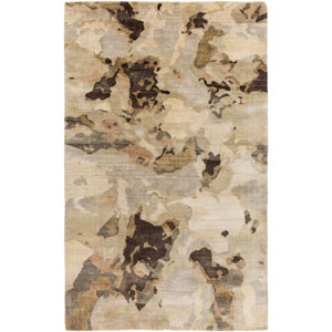 Slice Of Nature Beige and Olive Rectangular: 2 Ft x 3 Ft Rug