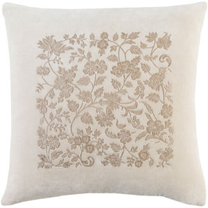 Smithsonian Khaki and Taupe 22 x 22-Inch Pillow Cover