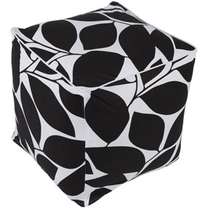 Somerset Black and White Pouf