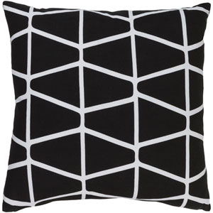 Somerset Black and Neutral 22-Inch Pillow Cover