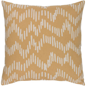 Somerset Mocha and Beige 20-Inch Pillow with Down Fill