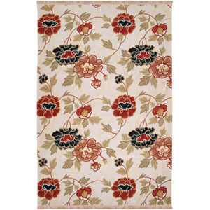 Sonoma Ivory and Rust Rectangular: 6 ft. x 9 ft. Rug