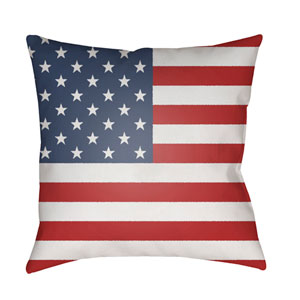 Americana Multicolor 18 x 18-Inch Throw Pillow