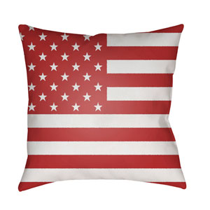 Americana Red and White 18 x 18-Inch Throw Pillow