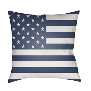 Americana Blue and White 18 x 18-Inch Throw Pillow