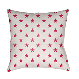 Americana II Red and White 20 x 20-Inch Throw Pillow