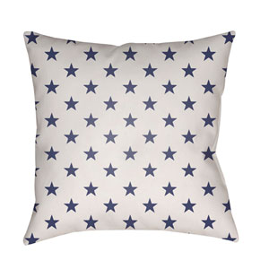 Americana II Blue and White 18 x 18-Inch Throw Pillow