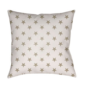 Americana II Beige and White 20 x 20-Inch Throw Pillow