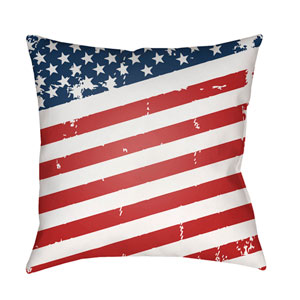 Americana III Multicolor 18 x 18-Inch Throw Pillow