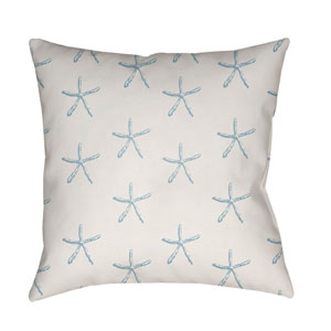 Coastal Blue and Neutral 18 x 18-Inch Throw Pillow