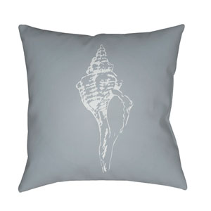 Shells Blue and Light Blue 18 x 18-Inch Throw Pillow