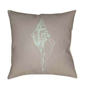 Shells Beige and Lime 18 x 18-Inch Throw Pillow
