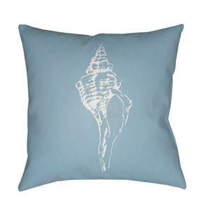 Shells Blue and White 18 x 18-Inch Throw Pillow