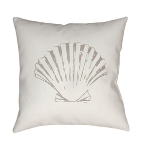 Shells II Green and Brown 18 x 18-Inch Throw Pillow
