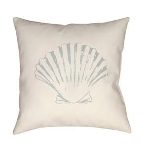 Shells II Yellow and Blue 20 x 20-Inch Throw Pillow