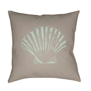 Shells II Brown and Green 20 x 20-Inch Throw Pillow