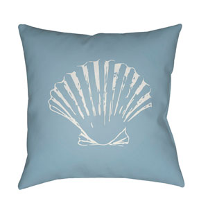 Shells II Blue and White 18 x 18-Inch Throw Pillow