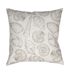 Shells III Beige and Neutral 18 x 18-Inch Throw Pillow