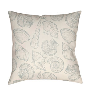 Shells III Blue and Yellow 18 x 18-Inch Throw Pillow