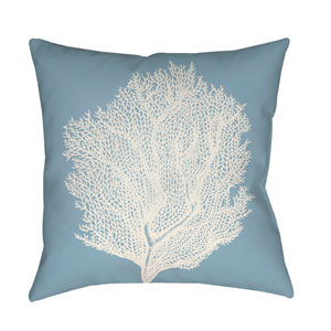 Coastal II Blue and White 18 x 18-Inch Throw Pillow