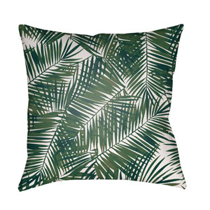 Fern Leaf Green and White 18 x 18-Inch Throw Pillow