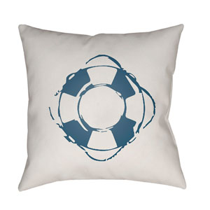 Nautical Blue and White 18 x 18-Inch Throw Pillow