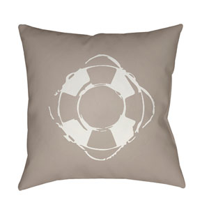 Nautical Beige and White 18 x 18-Inch Throw Pillow