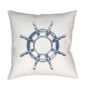 Nautical II Blue and White 18 x 18-Inch Throw Pillow
