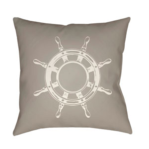 Nautical II Beige and Neutral 20 x 20-Inch Throw Pillow