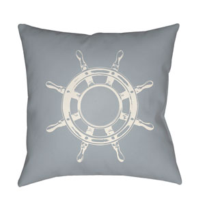 Nautical II Blue and Neutral 18 x 18-Inch Throw Pillow