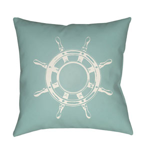 Nautical II Green and Neutral 18 x 18-Inch Throw Pillow