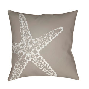 Nautical III Beige and Neutral 18 x 18-Inch Throw Pillow