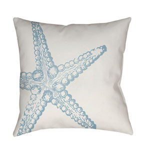 Nautical III Blue and White 18 x 18-Inch Throw Pillow