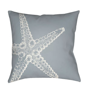 Nautical III Blue and White 18 x 18-Inch Throw Pillow