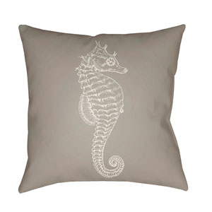 Seahorse Beige and Neutral 20 x 20-Inch Throw Pillow