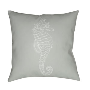 Seahorse Green and Neutral 18 x 18-Inch Throw Pillow