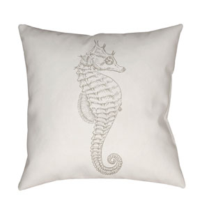 Seahorse Beige and Neutral 18 x 18-Inch Throw Pillow