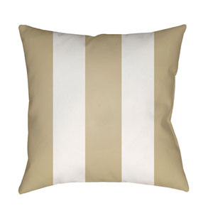 Edgartown Tan and White 20 x 20-Inch Throw Pillow