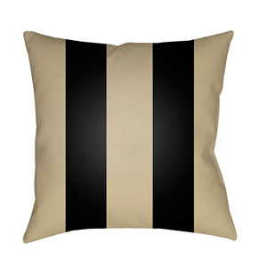 Edgartown Tan and Black 18 x 18-Inch Throw Pillow
