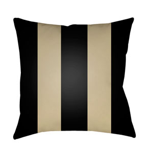Edgartown Black and Tan 18 x 18-Inch Throw Pillow