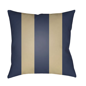 Edgartown Navy and Tan 18 x 18-Inch Throw Pillow