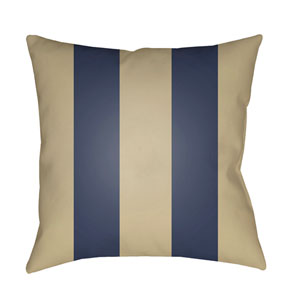 Edgartown Tan and Navy 18 x 18-Inch Throw Pillow