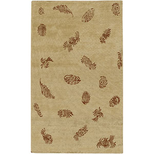 Sonora Beige and Brown Rectangular: 2 Ft. by 3 Ft. Rug