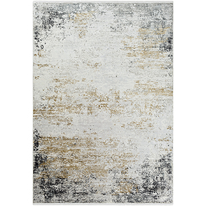 Solar Taupe and Yellow Rectangular: 7 Ft. 6 In. x 11 Ft. 2 In. Rug