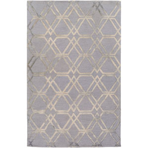 Serafina Gray and Neutral Rectangular: 8 Ft x 10 Ft Rug