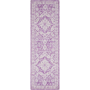 Serafina Bright Purple and White Rectangular: 9 Ft. x 13 Ft. Rug